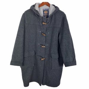 Gloverall England Duffle Toggle Coat Gray EU46 36